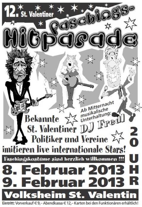 Plakat Faschingshitparade
