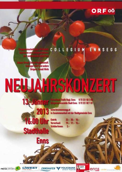 Plakat Neujahrskonzert 2013