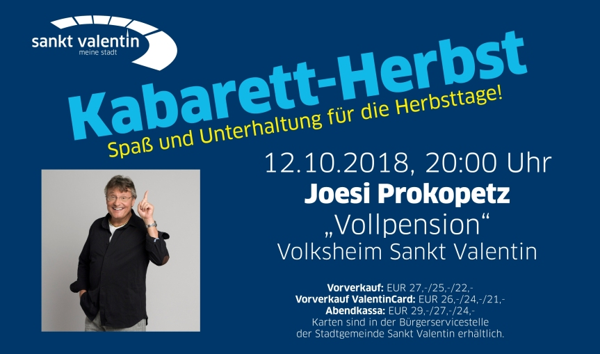 Mostviertler Kabarett-Herbst mit JoesiProkopetz