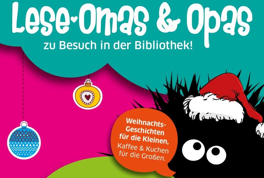 Lese-Omas & Opas zu Besuch in derStadtbibliothek