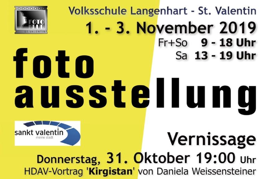 """Fotoklub St.Valentin """"Allerheiligenausstellung 2019"""""""