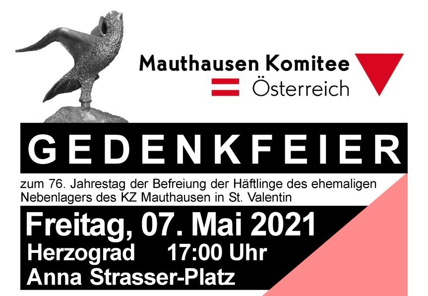 """Einladung zur """"KZ-Gedenk und Befreiungsfeier2021"""""""