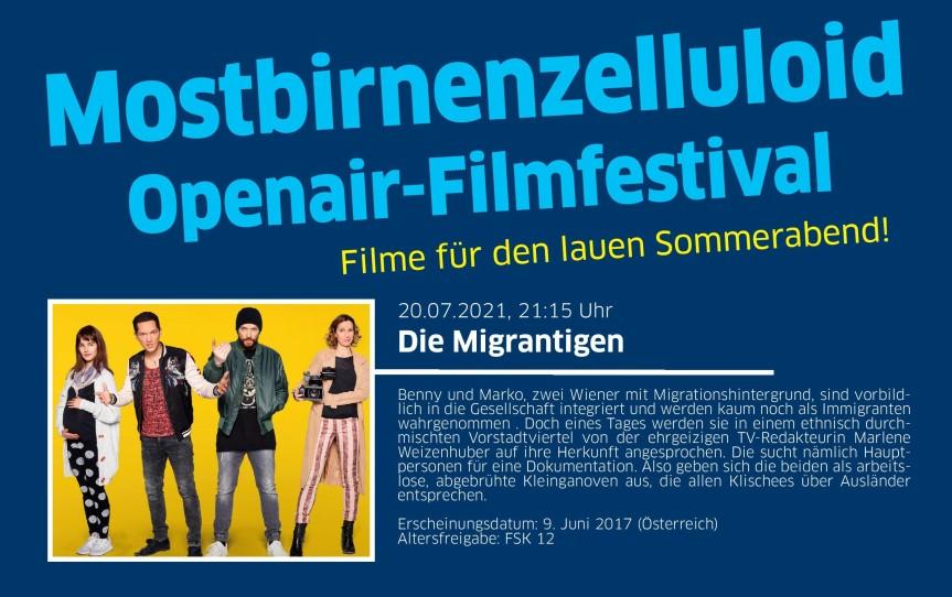 Mostbirnenzelluloid Openair-Filmfestival 2021